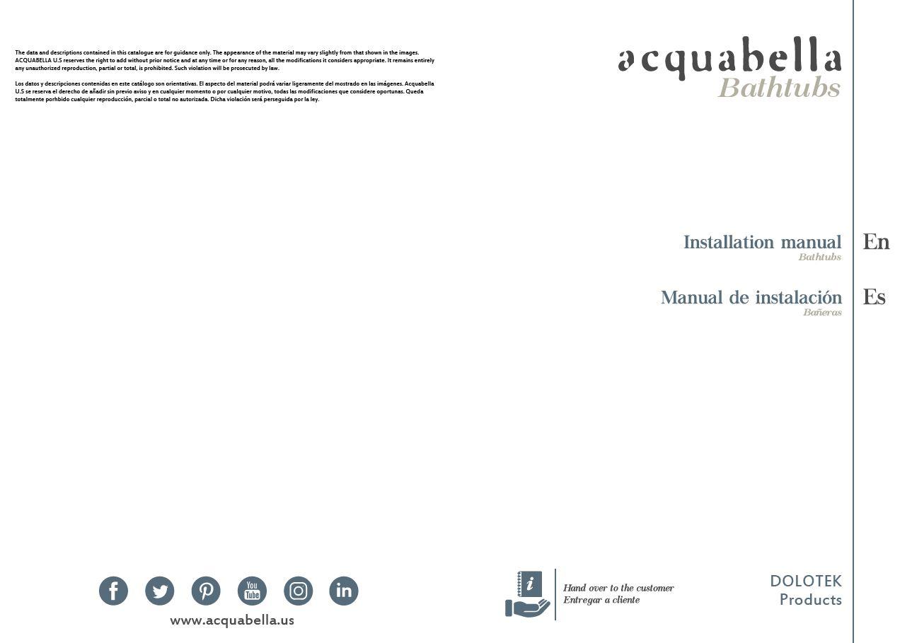 INSTALLATION MANUAL – DOLOTEK BATHTUBS